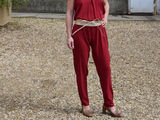 Combi pantalon bordeaux (M et L)