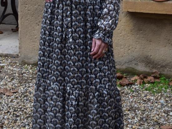 Robe longue, manches longues