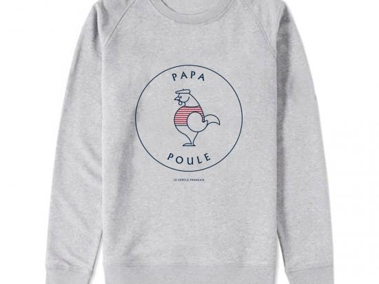 Sweat-shirt Homme - coton bio - Premier Cercle - Papa Poule
