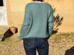 Cardigan en mohair, bleu vert