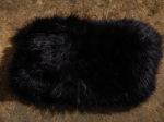 Bandeau bleu marine en fourrure de lapin