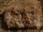 Bandeau beige naturel en fourrure de lapin