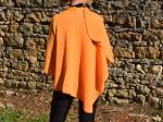 Cape en cachemire et merinos, orange