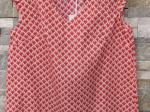 Top petits volants sur les épaules, rouge (S/M)