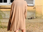 Veste longue en maille, camel