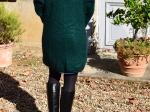 Veste longue en mohair, vert bouteille