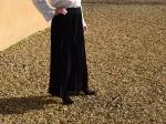 Jupe longue plissée, noire