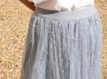 Jupe en tulle, gris bleu, taille unique.