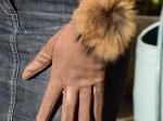 Gants, fourrure de marmotte (6 couleurs)