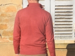 Pull homme, col camionneur, rose