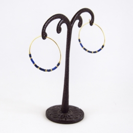 Boucles d'oreilles 22, bleu marine