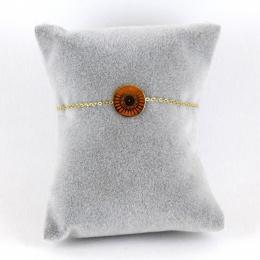 Bracelet médaille brique