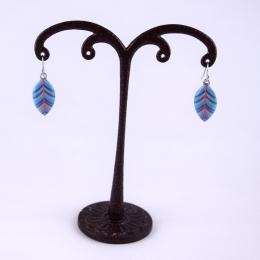 Boucles d'oreilles 4, bleues.