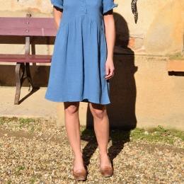 Robe 100% coton, bleue