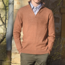 Pull homme, col camionneur, camel