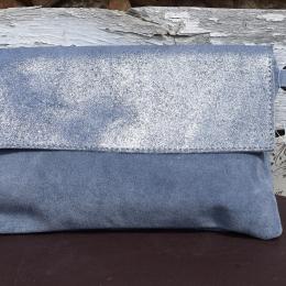 Pochette ou sac à main en daim pailleté