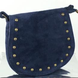 Petit sac à main daim, 14, bleu marine