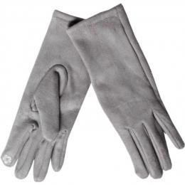 Gants tactiles gris clair