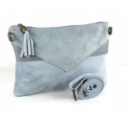 sac bi matière bleu gris