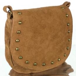 Petit sac à main daim, 14, camel