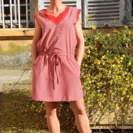 Robe sans manche, dentelle, rouge (S/M ou L/XL)