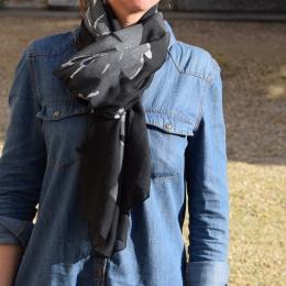 Foulard paillettes, noir