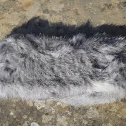 Bandeau gris naturel en fourrure de lapin