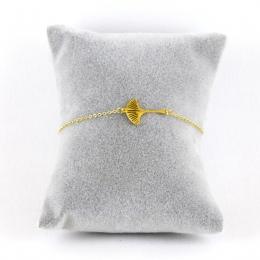 Bracelet feuille de ginkgo dorée