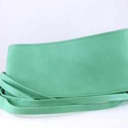 Ceinture à nouer en simili cuir, vert clair