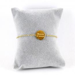 """Bracelet médaille """"Maman d'amour"""""""