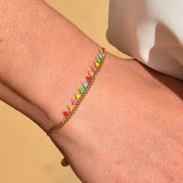 Bracelet petits triangles, multicolor