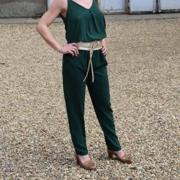 Combi pantalon vert bouteille (S ou L)