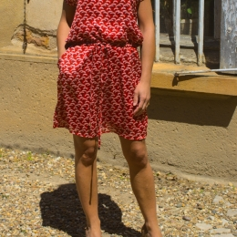 Robe fluide, rouge