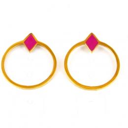 Boucles d'oreilles puces, rose