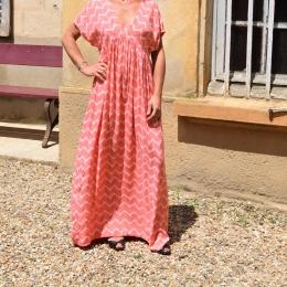 Robe longue, rose, taille unique