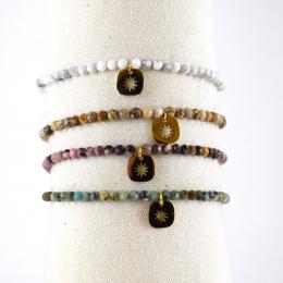 Bracelets élastiques, pierres naturelles