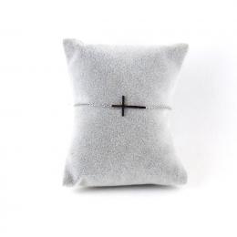 Bracelet croix argentée