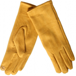 Gants tactiles moutarde