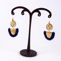 boucles d'oreilles 3, bleu marine