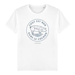 T-shirt Homme - coton bio -Premier Cercle - Tout est bon dans le Cochon