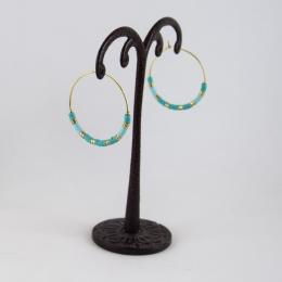 Boucles d'oreilles 22, turquoise flash