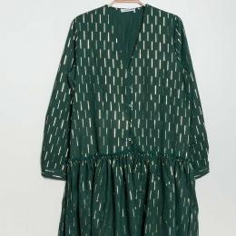 Robe habillée vert bouteille (S/M)