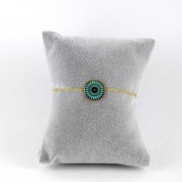 Bracelet médaille turquoise