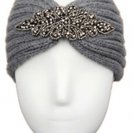 Headband bijoux gris, adulte ou enfant