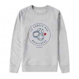 Sweat-shirt Homme - coton bio -Premier Cercle - Le Cercle des Boulistes