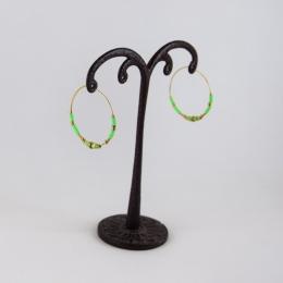 Boucles d'oreilles 22, vert fluo