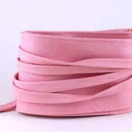 Ceinture à nouer en simili cuir, rose pâle