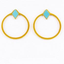 Boucles d'oreilles puces, bleu