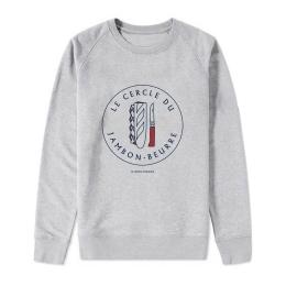 Sweat-shirt Homme - coton bio -Premier Cercle - Le Cercle du Jambon-Beurre