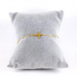 Bracelet fantaisie croix dorée